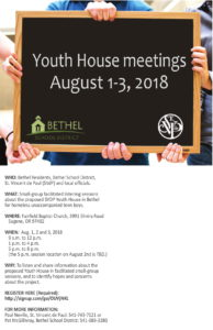 St. Vincent de Paul Bethel Youth House meetings August 1-3 2018